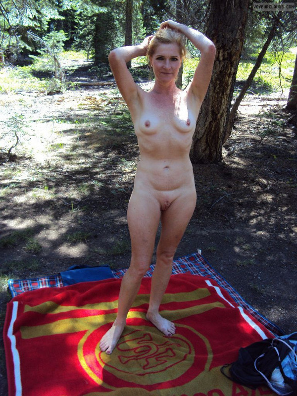 Milf outdoor camping