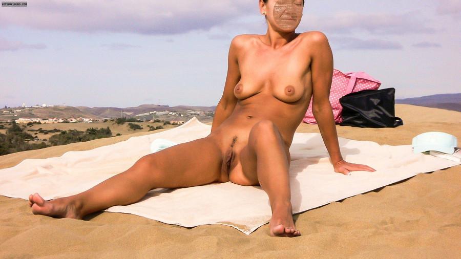 Wife sunbathing nude beach