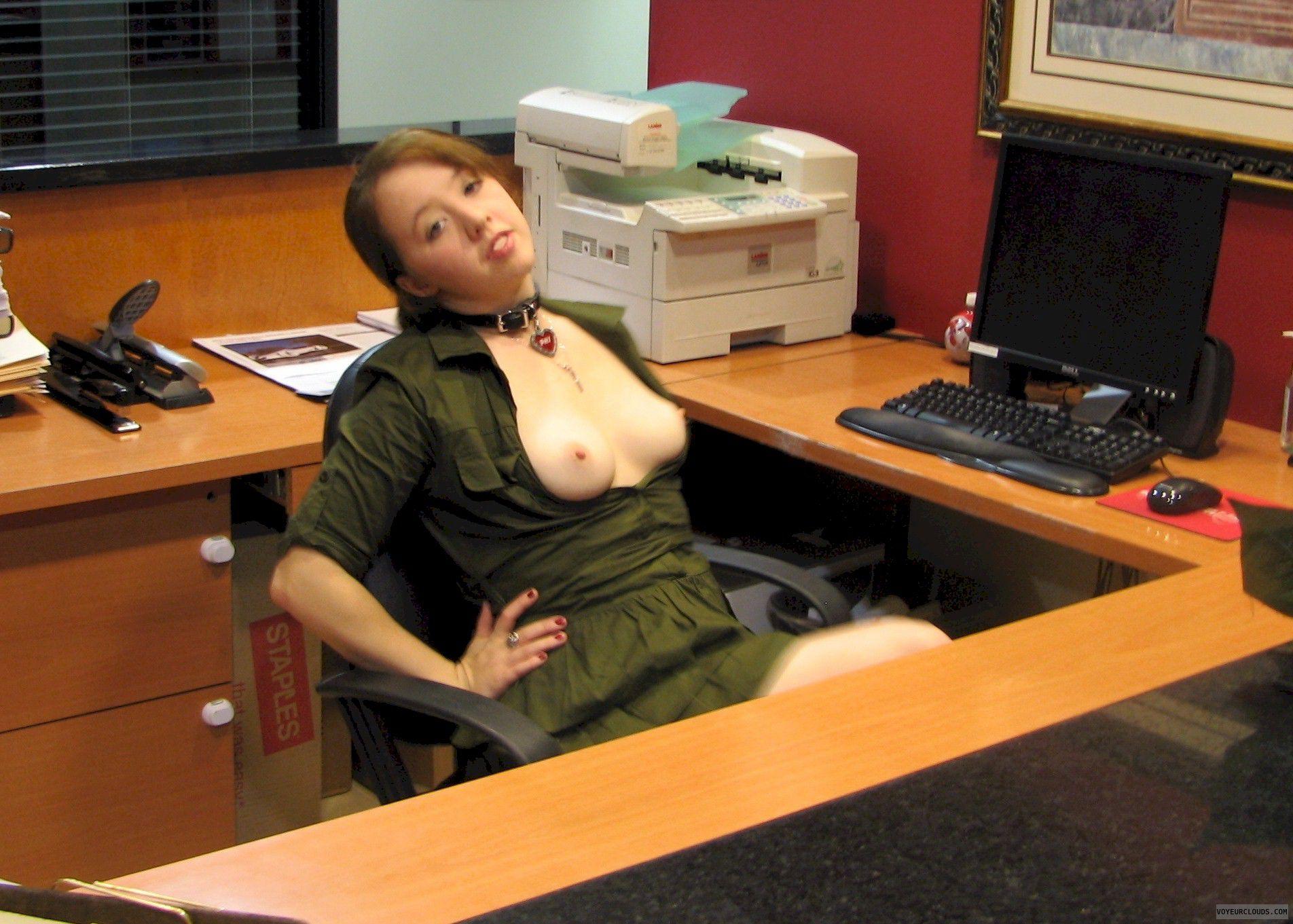 Li\'l Φhi At The Office Christmas Party: Erotic Amateur Art Pics