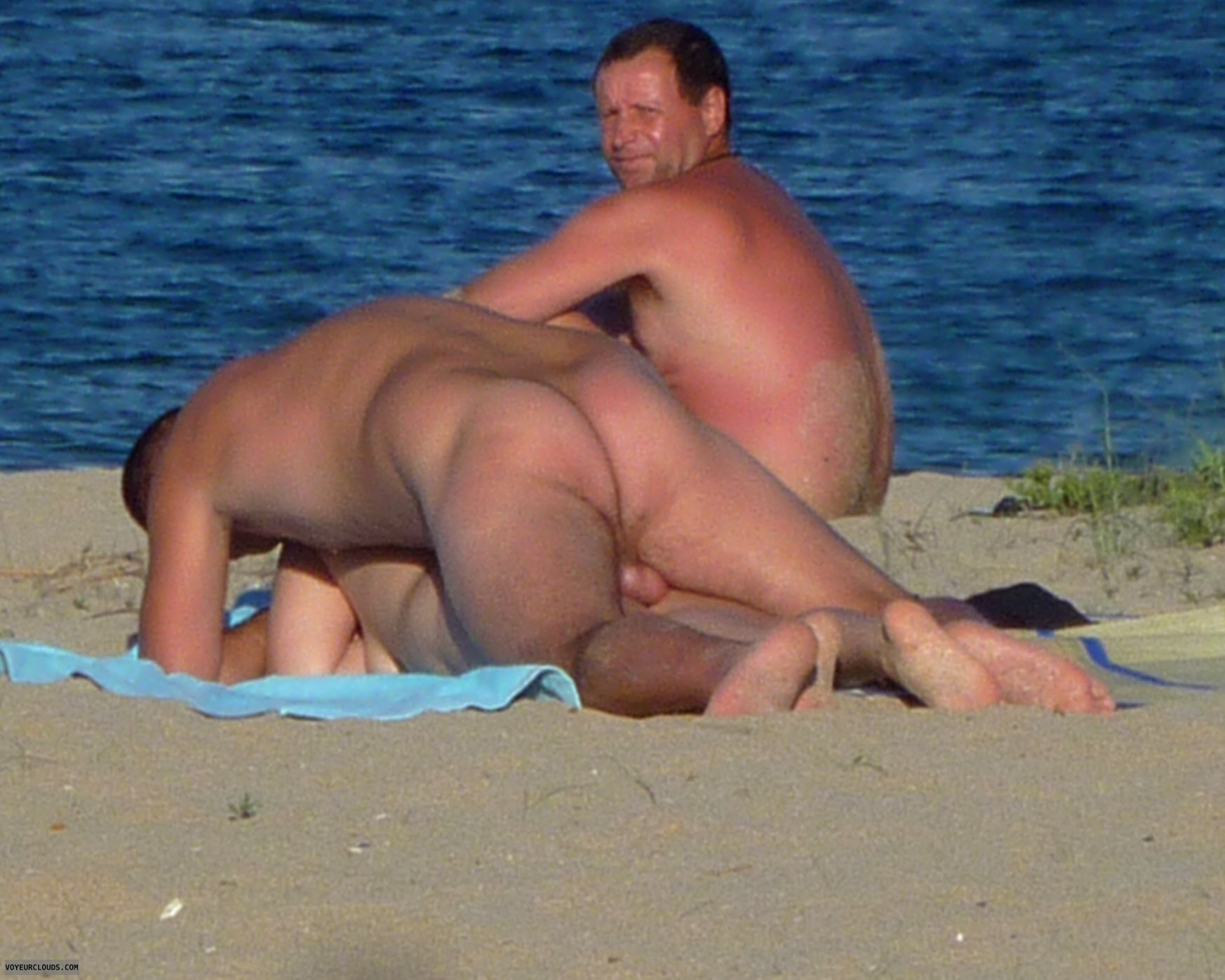 Voyeur nudity on beach