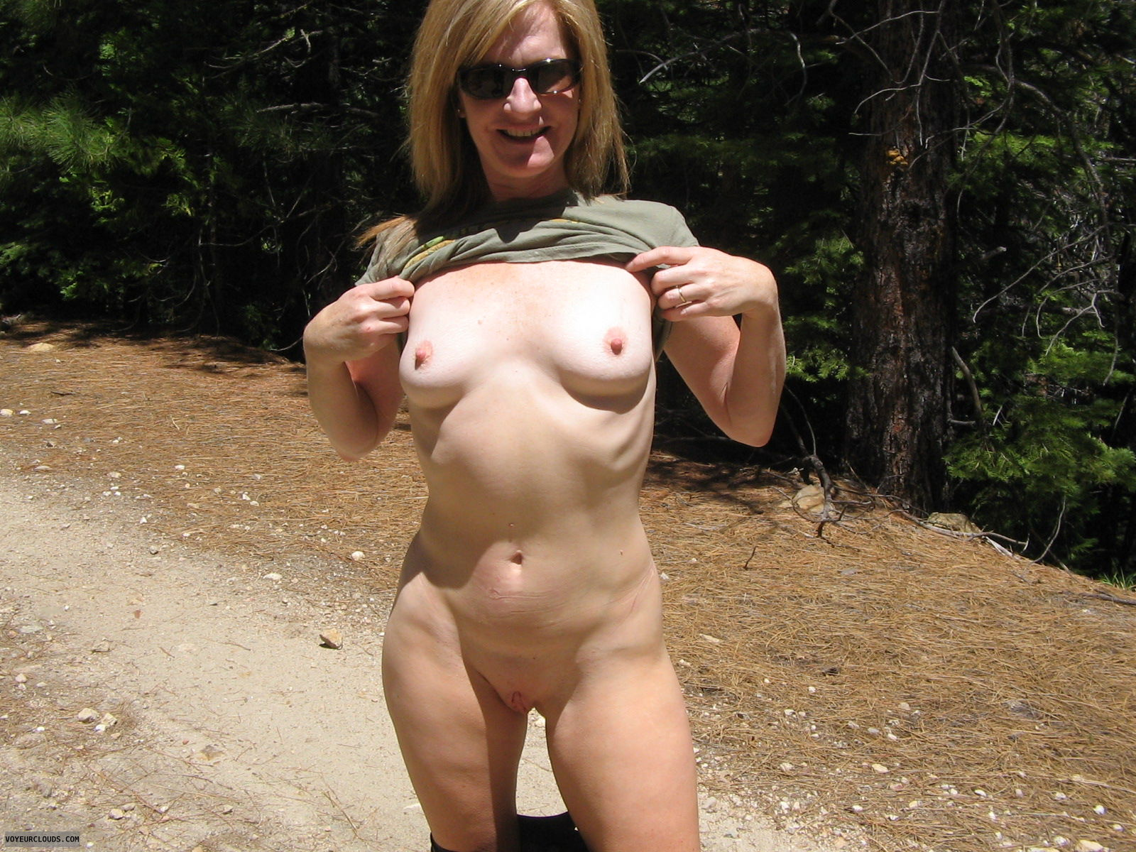 mature milf naked on deck