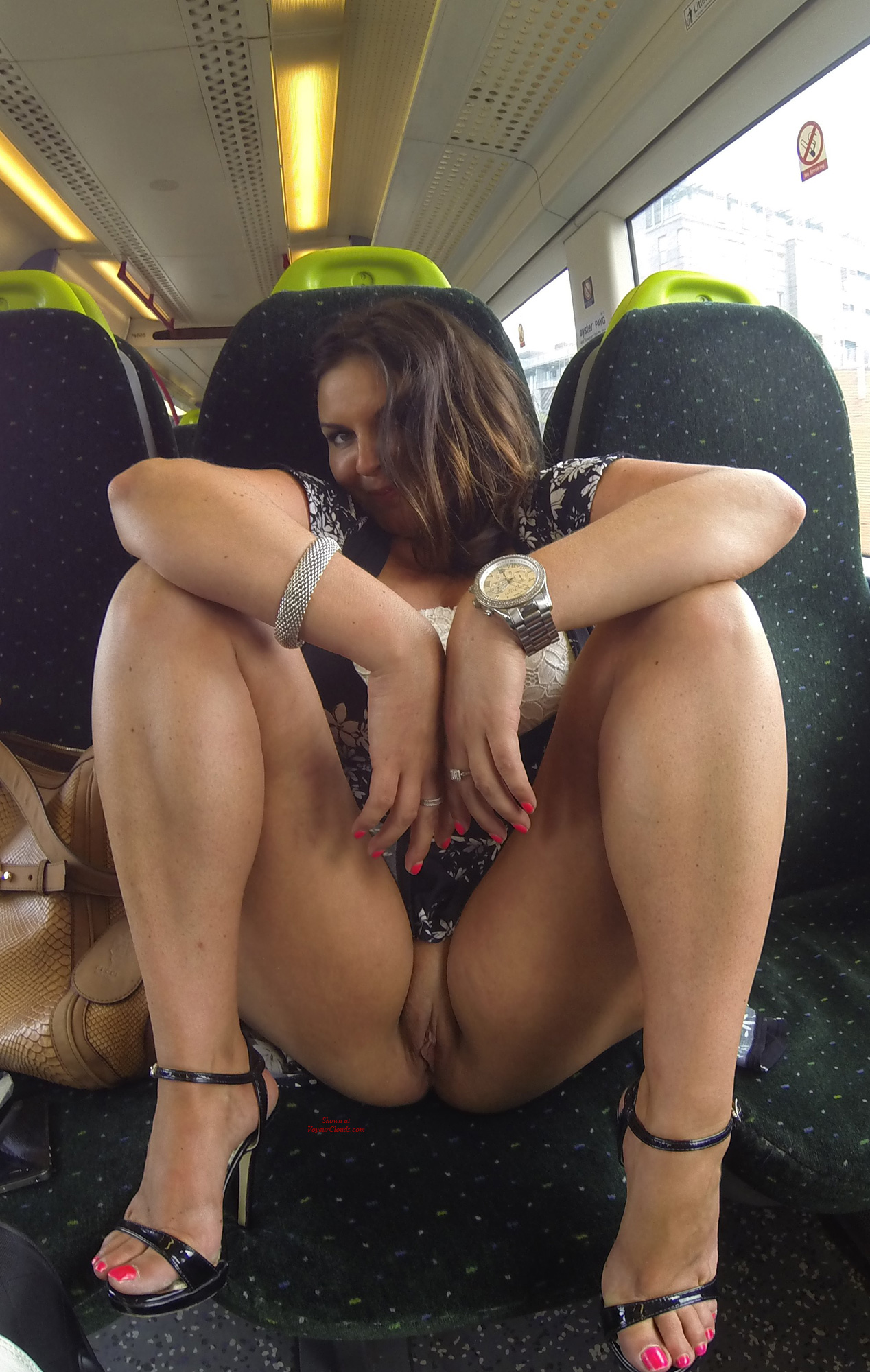 Busty english taxi driver rides backseat cock 2