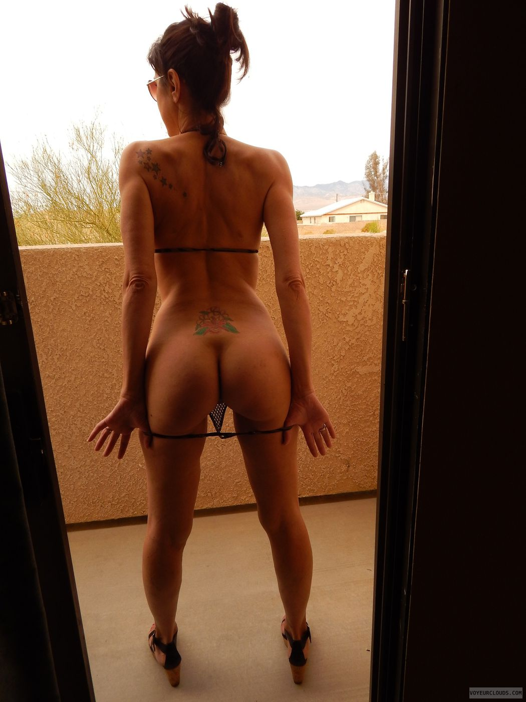 Hotel Balcony Fun Nude In Public
